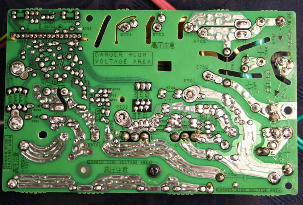 The Back Of Inverter Board I D Already Desoldered Transformer And Rider Before Sitting Them In Temporarily For This Photo