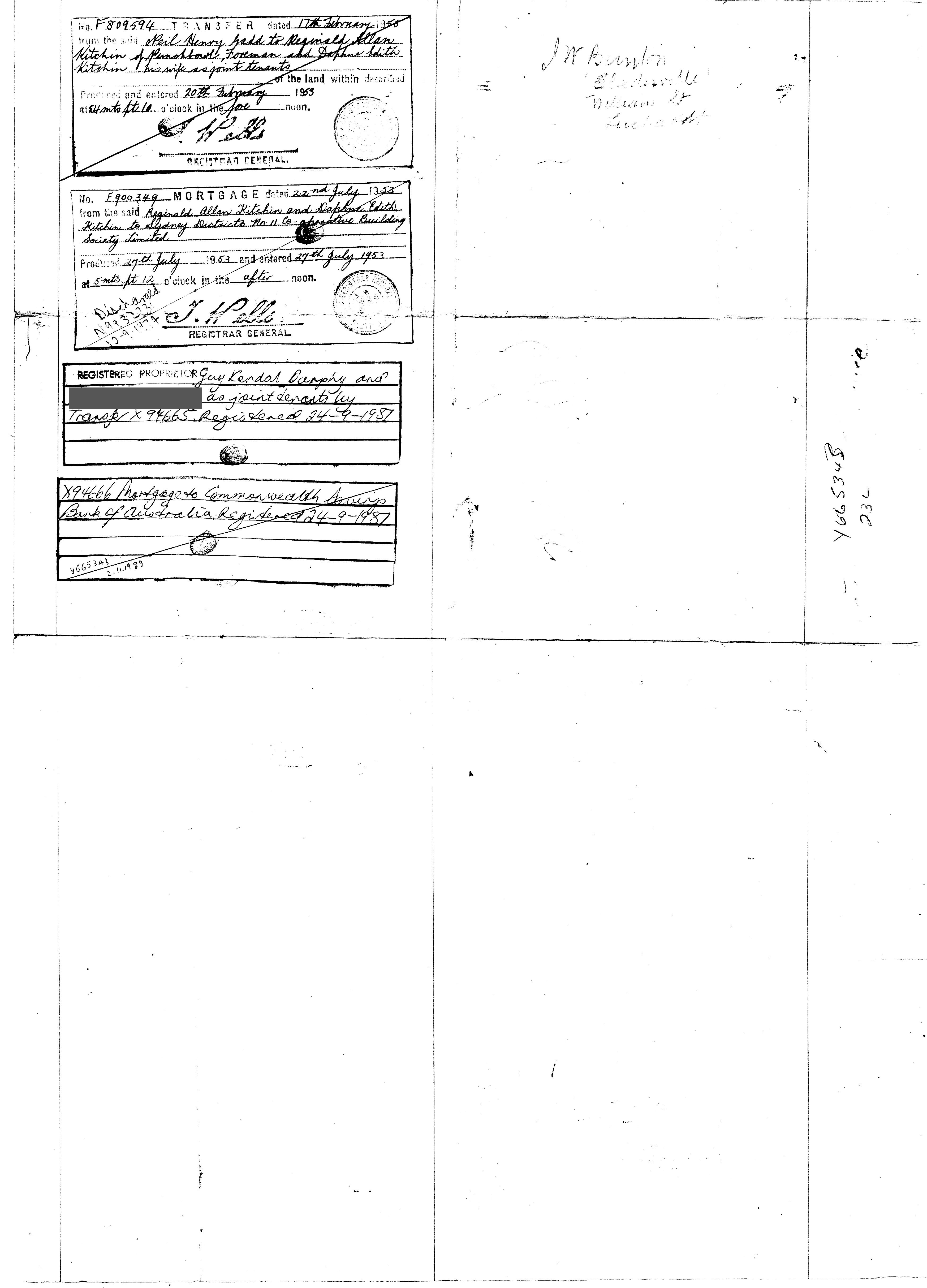 Theft of our land certificate of title by the commonwealth bank i still have the certificate of title folder from the bank in which it was returned to us the first time and a photocopy of the original certificate of xflitez Gallery
