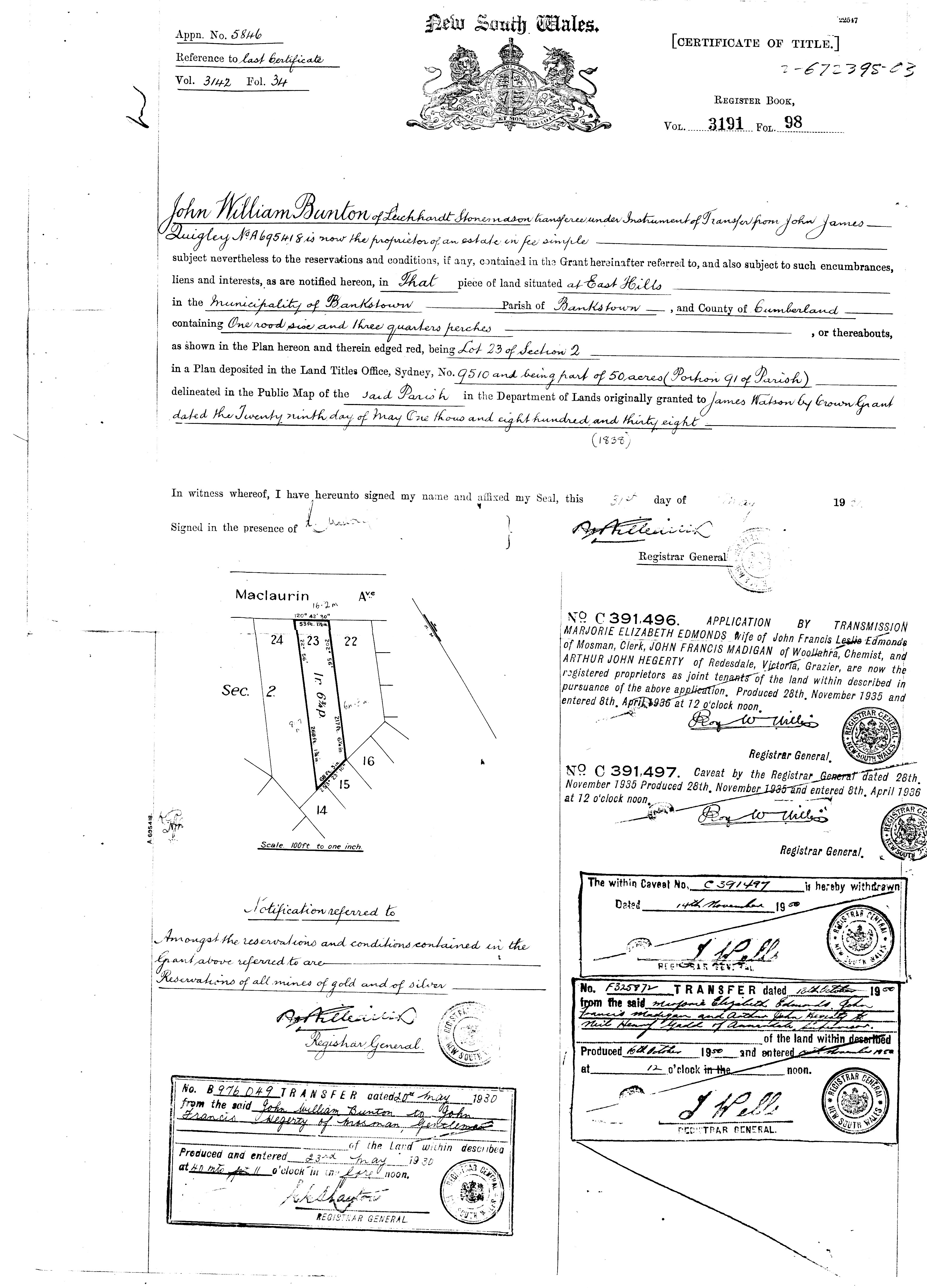 Theft Of Our Land Certificate Of Title By The Commonwealth Bank